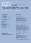 NZV - Neue Zeitschrift für Verkehrsrecht
